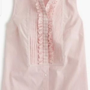 NEW J. Crew Tall Striped Gingham Pink tank Top 10